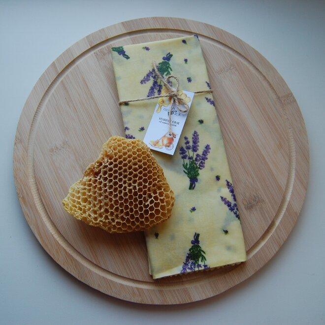 """Ekologické voskové vrecko na chlieb """"Levanduľa"""""""