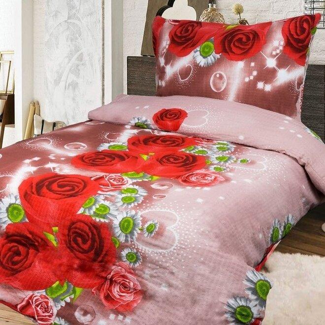 Krepové obliečky RED ROSE (100% bavlna)