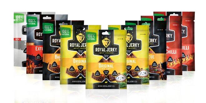 9 x 22 g Balíček prémiového sušeného mäsa Royal Jerky (MIX 5 príchutí)