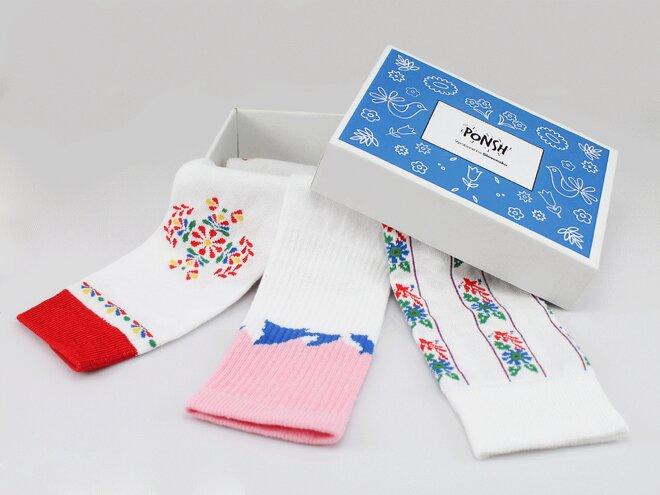 3 ks Balenie ponožiek Ponsh vyrobených na Slovensku (Ľudový box)