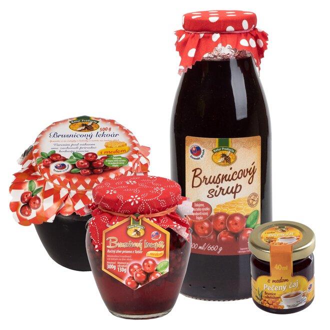 4-dielny Brusnicový balíček slovenskej výroby