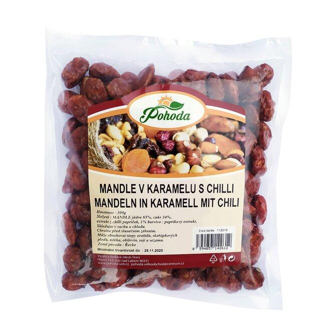 300 g Mandle v karameli s čili