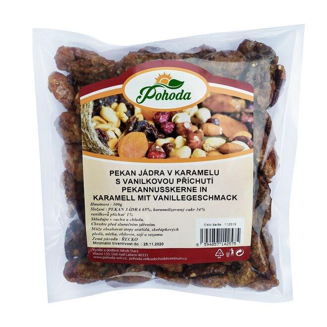 300 g Pekanové orechy v karameli s vanilkovou príchuťou