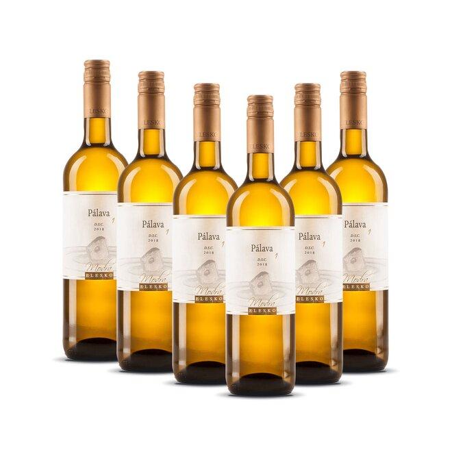 """6 x 0,75 l Akostné odrodové víno Pálava """"1"""" D.S.C. 2019"""