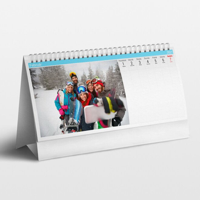 Stolový týždňový kalendár z vlastných fotografií