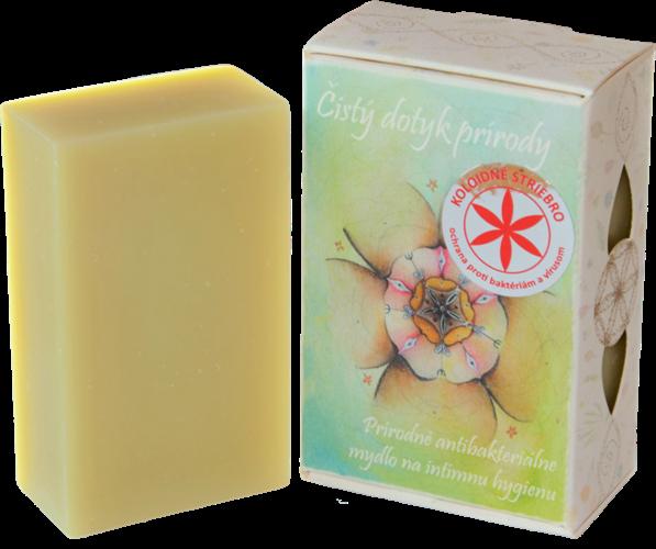 """85 g Prírodné antibakteriálne mydlo na intímnu hygienu ,,Čistý dotyk prírody"""""""