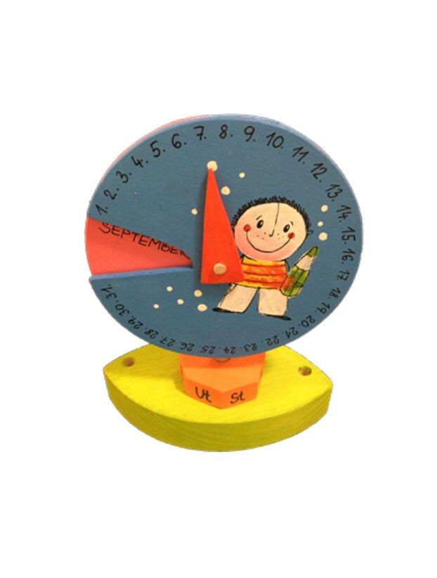 Drevený kalendár s kruhom