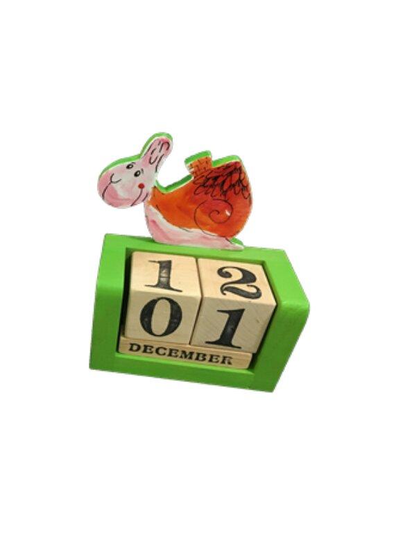Drevený kalendár s kockami