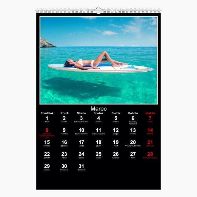 Nástenný mesačný kalendár z vlastných fotografií vo formáte A3 (na výšku)
