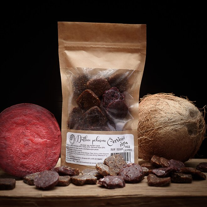 100 g Datlové bonbóny (červená repa)
