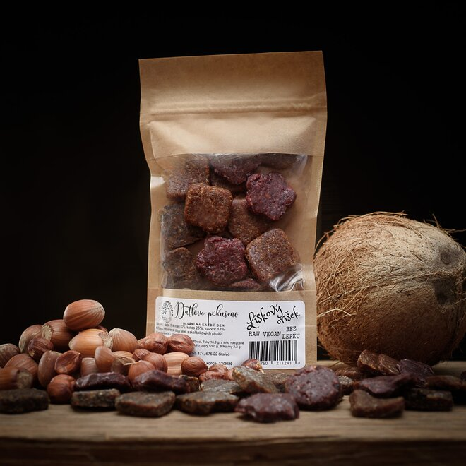 100 g Datlové bonbóny (lieskový orech s kakaom)