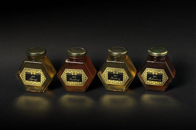 4-dielna Darčeková sada exkluzívnych slovenských medov
