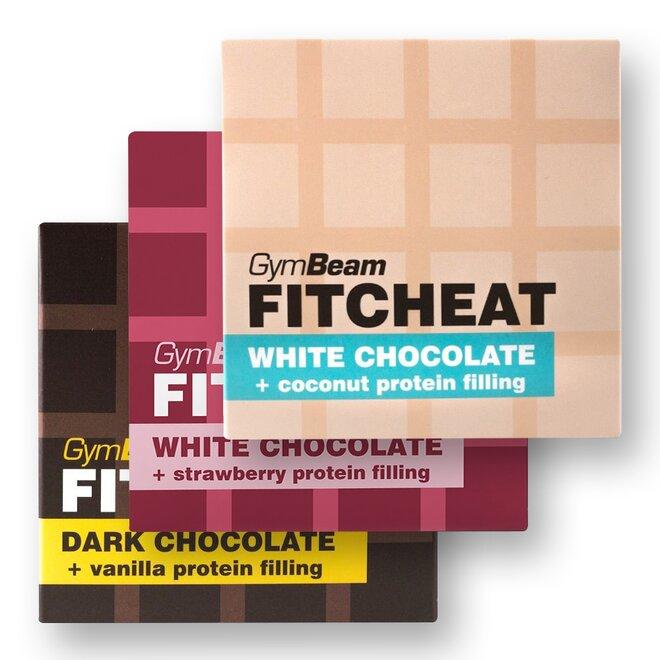 3 x 90 g Proteinová čokoláda Fitcheat (MIX príchutí)