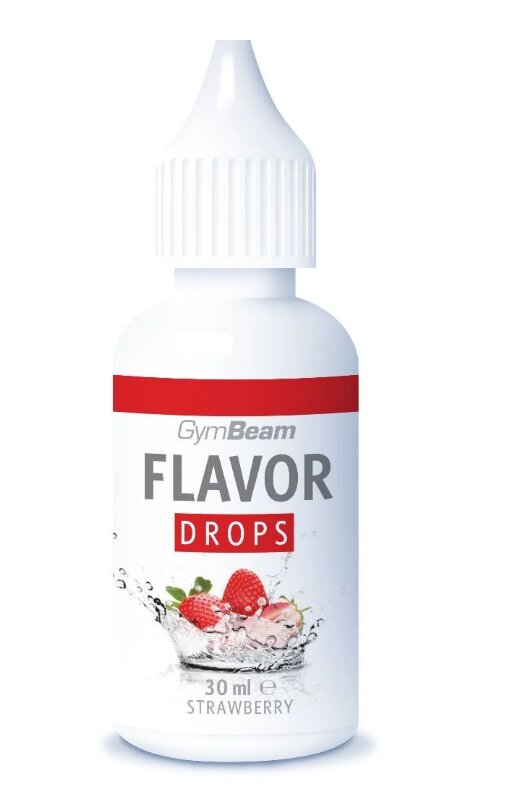 30 ml Flavor Drops od GymBeam (jahoda)