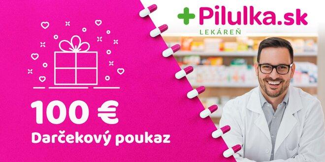 Darčekový poukaz do e-shopu Pilulka.sk v hodnote 100 €