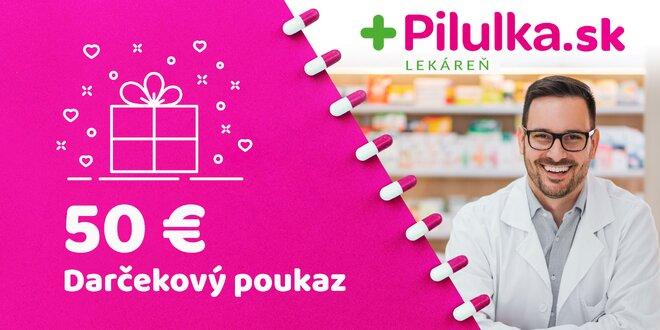 Darčekový poukaz do e-shopu Pilulka.sk v hodnote 50 €