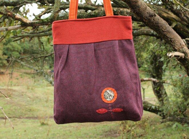 Dámska vlnená taška