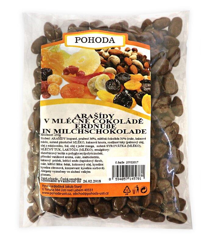250 g Arašidy v mliečnej čokoláde
