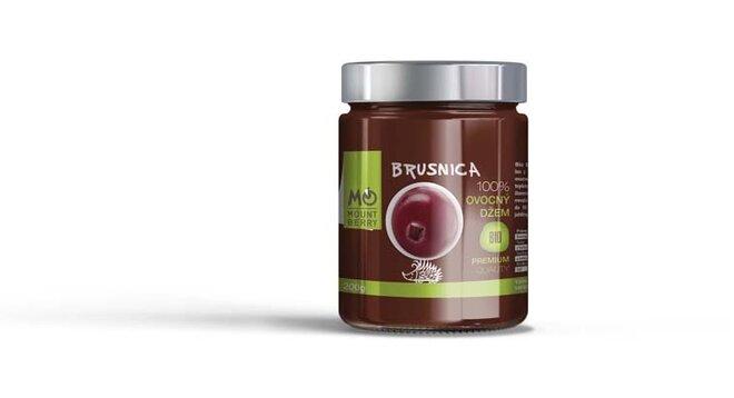 200 g BIO 100 % ovocný džem PREMIUM (brusnicový)