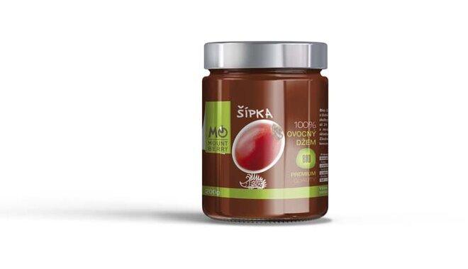 200 g BIO 100 % ovocný džem PREMIUM (šípkový)