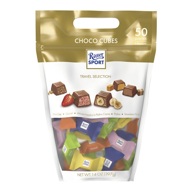 397 g Čokoláda Ritter Choco Cube Pouch