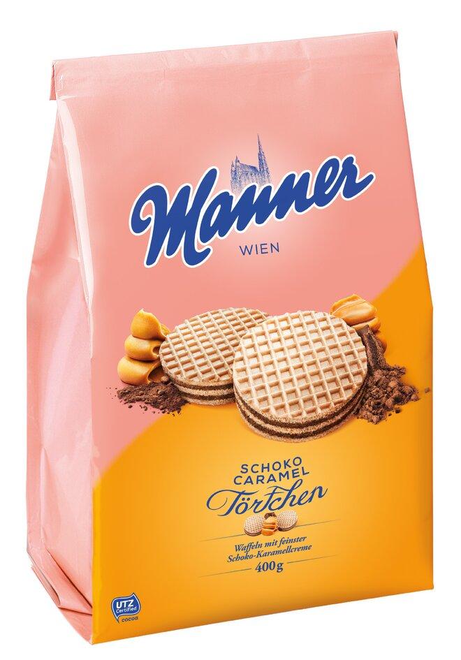 400 g Tortičky Manner (čokoláda / karamel)