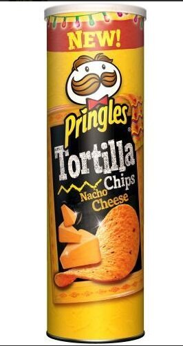 180 g Tortilové lupienky Pringles Tortilla Chips (Nacho Cheese)