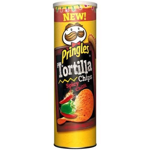 180 g Tortilové lupienky Pringles Tortilla Chips (Spicy Chilli)