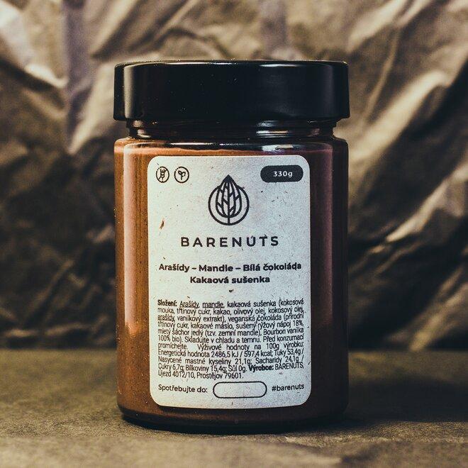 330 g Kakaová sušienka (arašidy / mandle / biela čokoláda / kakaová sušienka)