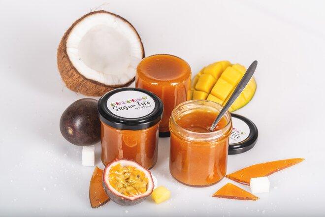 150 g Exotický karamel (kokos / mučenka / mango)