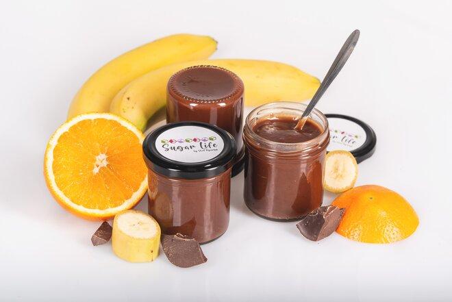 175 g Confiture džem (banán / 55% horká čokoláda / pomaranč)
