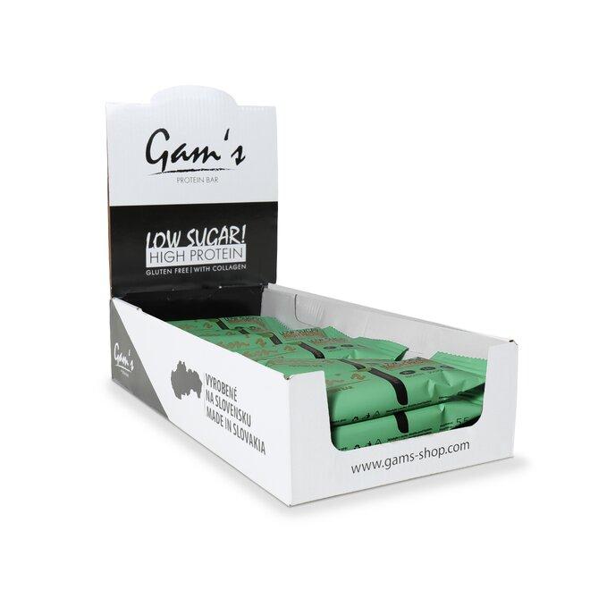 20 x 55 g Proteínová tyčinka Gam´s Protein Bar (peppermint)