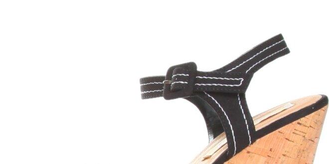 d4fbff05c070 Dámske čierne sandálky na platforme Ana Lublin