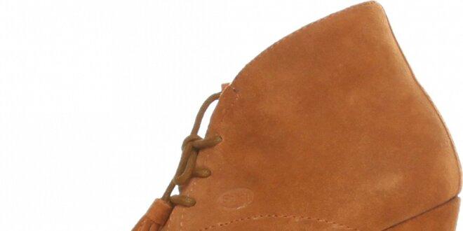 Dámske ťavie kotníkové topánky Dr. Scholl s podpätkom  42ef06bba39