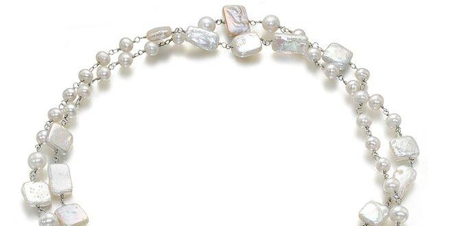 Biely náhrdelník Orchira s perlami