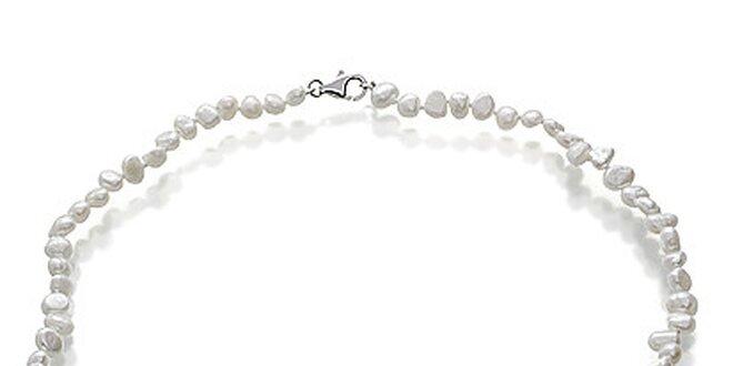 Náhrdelníky z bielych perál Orchira