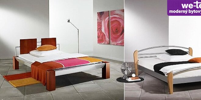 Moderné kovové postele od WE-TEC