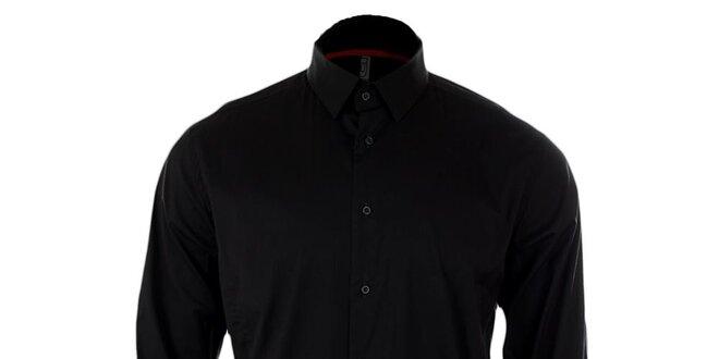 95f48fd08553 Pánska čierna košeľa Pietro Filipi
