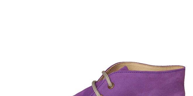 4a732bc798c1 Dámske fialové semišové topánky U.S. Polo
