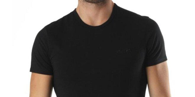 Pánske čierne tričko s krátkym rukávom a výšivkou Kenzo
