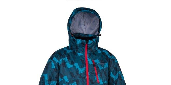 77bf8c098fa Pánska modrá zimná bunda s potlačou Envy