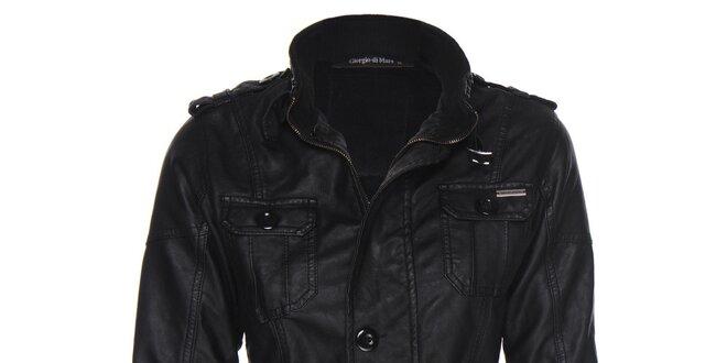 b1a1f4048 Dámska motorkárska čierna bunda Giorgio di Mare | Zlavomat.sk