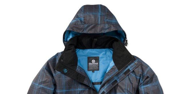 Pánska čierna bunda s modrou potlačou Brunotti