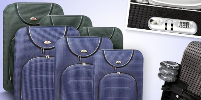 Sada troch cestovných kufrov