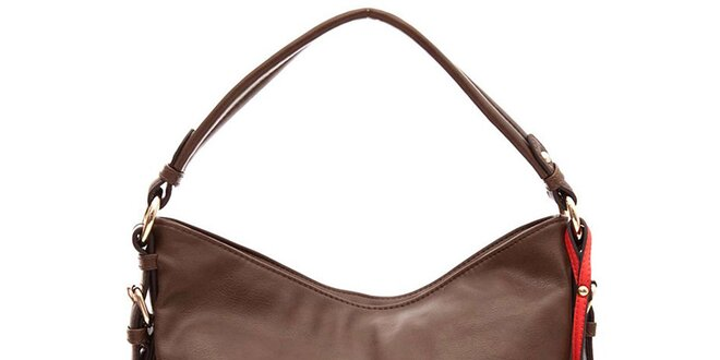 d4c6185435 Dámska hnedá kabelka s jedným uchom Paris Hilton