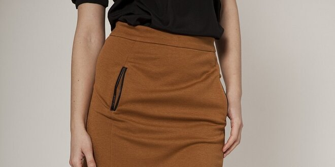 31d8ef11874b Dámska karamelovo hnedá sukňa Mell