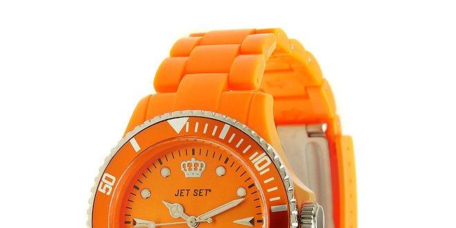 Dámske oranžové hodinky Jet Set