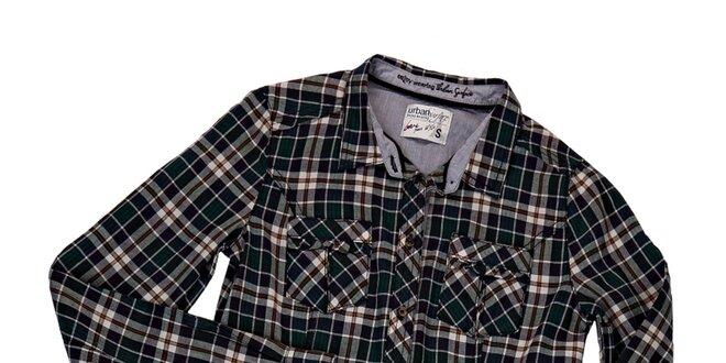 Dámska zelená károvaná košeľa Urban Surface