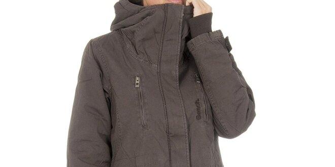 Dámsky hnedý kabát Bench s kapucňou  354229e199c