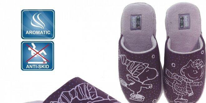 Dámske fialové voňavé papuče Beppi Snoopy
